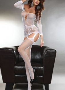 Slika: MIDNIGHT BODYSTOCKING WHITE