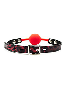 Picture of RED SILICONE BALL GAG LEOPARD